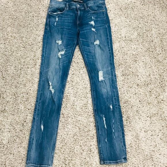 Express Denim - Express Distressed Jeans w/ Stretch